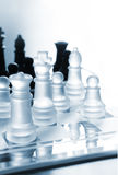 Black and white transparent chess Stock Photography