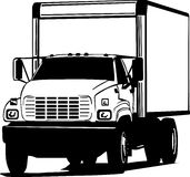 Black and white transportation truck Royalty Free Stock Photography