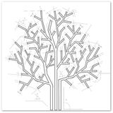 Black and white tree Royalty Free Stock Image