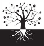Black and white tree symbol. Vector illustration in eps8 format Royalty Free Stock Photos