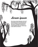 Black and white trees. Card, background for text presentation Stock Illustration
