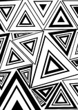 Black and white  triangle Stock Images