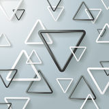 Black And White Triangle Background Stock Image