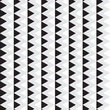 Black and white triangle with gray vertical chevron line pattern. Background vector illustration image Stock Image