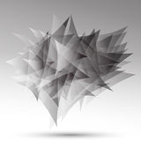 Black & white triangles Stock Photos