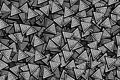 Black and white triangles. Background Stock Photos