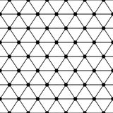 Black white triangles lattice simple seamless pattern, vector Stock Photography