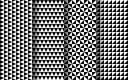 Black and white triangles seamless pattern. EPS 10 vector. Black and white triangles modern seamless pattern. EPS 10 vector Royalty Free Illustration