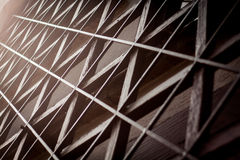 Black and white triangular architecture abstract with perspectiv Royalty Free Stock Image