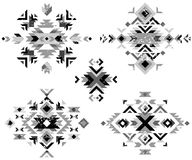 Black and white tribal design elements Stock Images