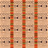 Black and white tribal ethnic pattern with geometric elements, traditional African mud cloth, tribal design. Tribal ethnic colorful bohemian pattern with Stock Photo