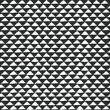 Black and white tribal ethnic pattern with triangle elements, traditional African mud cloth, tribal design. Vector illustration Stock Images