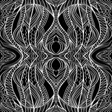 Black And White Tribal Pattern Royalty Free Stock Image