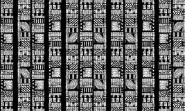 Black and White Tribal Pattern Stock Photo