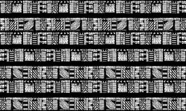 Black and White Tribal Pattern Royalty Free Stock Photos
