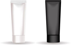 Black and white tube for cream or another cosmetic stock photography