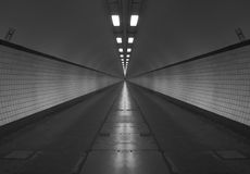 Black and white tunnel Stock Photo