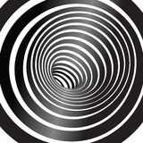 Black and white tunnel background royalty free illustration
