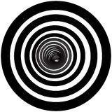 Black and white tunnel  background Stock Photo