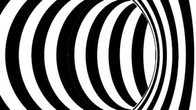 Black and white tunnel. Seamless loop. 3d rendering stock video footage