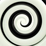 Black and white twirl as an abstract background Royalty Free Stock Photo