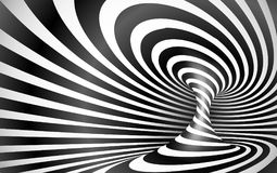 Black and white twisted lines horizontal background Royalty Free Stock Photos