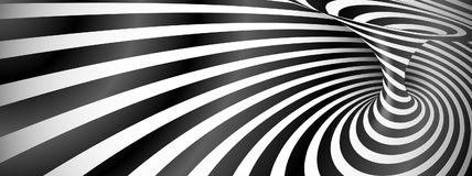 Black and white twisted lines horizontal background Royalty Free Stock Image