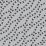 Black and White Twisted Ribbon, Vectro Seamless Pattern. Stock Images