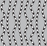 Black and White Twisted Ribbon, Vectro Seamless Pattern. Stock Photography