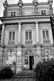 Black & White. Typical urban building in downtown Bucharest - Bucuresti Royalty Free Stock Image