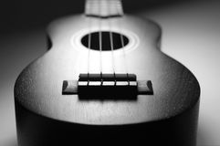 Black and White Ukulele Royalty Free Stock Photography