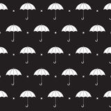 Black and White Umbrella Pattern Royalty Free Stock Photos