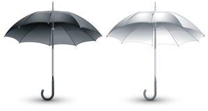 Black & white umbrellas Royalty Free Stock Photos