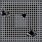 Black and white unique pattern. Broken mesh on a image. Royalty Free Stock Photo