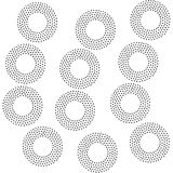 Black and white universal geometric seamless pattern. In pointillism style. Endless vector texture can be used for wrapping wallpaper, pattern fills, web Royalty Free Stock Photos