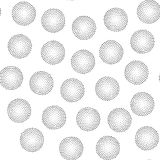 Black and white universal geometric seamless pattern. In pointillism style. Endless vector texture can be used for wrapping wallpaper, pattern fills, web Royalty Free Stock Photo