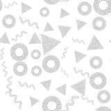 Black and white universal geometric seamless pattern. In pointillism style. Endless vector texture can be used for wrapping wallpaper, pattern fills, web Royalty Free Stock Images