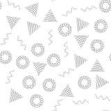 Black and white universal geometric seamless pattern Royalty Free Stock Image