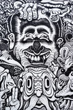 Black and white urban art Royalty Free Stock Images