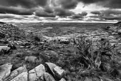 Black and White Utah Escalante Landscape Dramatic Stormy Sky Stock Image