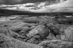 Black and White Utah Landscape Escalante Stock Image