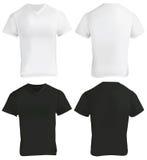Black and White V-Neck Shirt Design Template Stock Photo