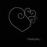 Black and White Valentine Heart royalty free stock images