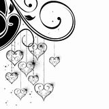 Black and White Valentine Heart Stock Photo