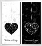 Black and white Valentine's day Stock Photography