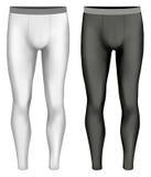 Black and white variants of leggings Stock Photos