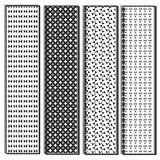 Black and white variety shape pattern Stock Photos