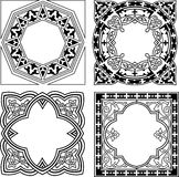 Black And White Various Quad Ornament Stock Photos