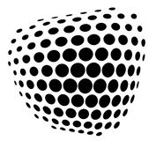 Black and white, vector. Abstract background with black and white dots Royalty Free Stock Photos