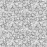 Black and white vector buttons background. Royalty Free Stock Image